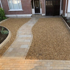 Pathway and gravel